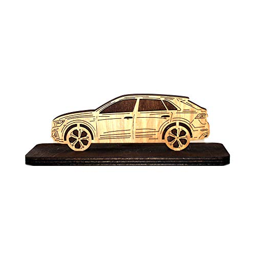 Price comparison product image Car Wood Figurine for Audi Q8 Plywood Sideview Statuette Gift Home Office Decor
