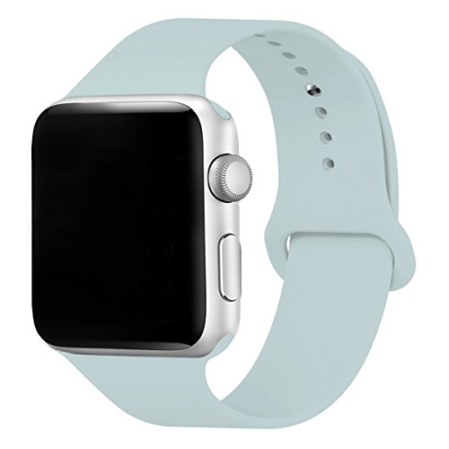 (Haihai Compatible for Apple Watch Band 38mm, Soft Silicone Sport Band Replacement Wrist Strap for iWatch Nike+,Sport,Edition,Compatible for iWatch Series 3 Series 2 Series)