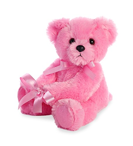 - Aurora World Plush Vase Hugger Jellybean Bear, Pink
