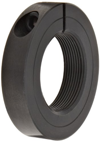 Climax Metal TC-075-16 Shaft Collar, One Piece, Threaded, Black Oxide Finish, Steel, 3/4