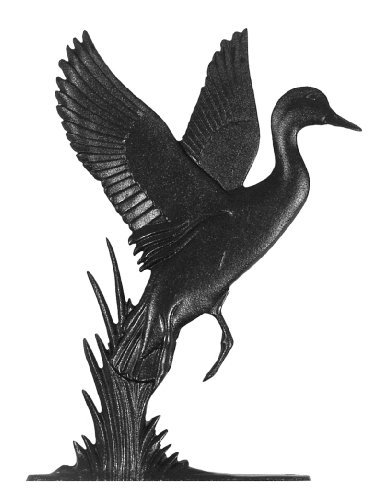 Whitehall Products Duck Weathervane, 30-Inch, Rooftop Black - Whitehall Products Duck