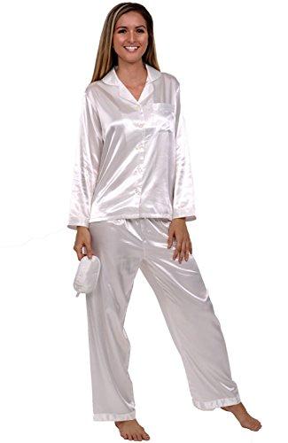 Del Rossa Women's Classic Satin Pajama Set