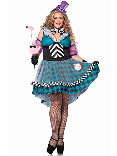 Manic Mad Hatter Adult Costume - Plus Size 1X/2X ()