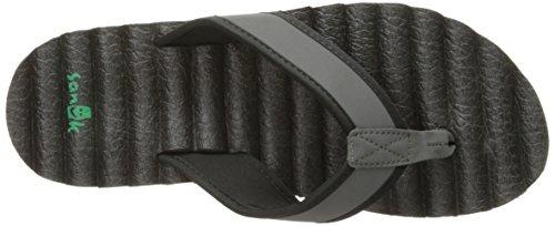 Sanük Beer Cozy Hop Top Shoes Men Black 2016 Sandalen Grey