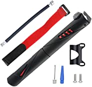 Portable Bicycle Pump Mini Bike Tire Pump Manual Fast Tire Inflation Bike Frame Pump for Road, Mountain and BM
