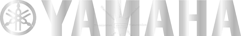 Yamaha Schrift Logo Silber Wei/ß Rim B35 Felgenrandaufkleber Sticker Decal Profi Qualit/ät bunt Sticker-Designs 25x3cm-4St/ück Vorn oder Hinten FELGEN-Aufkleber UV/&Waschanlagenfest Made IN Germany