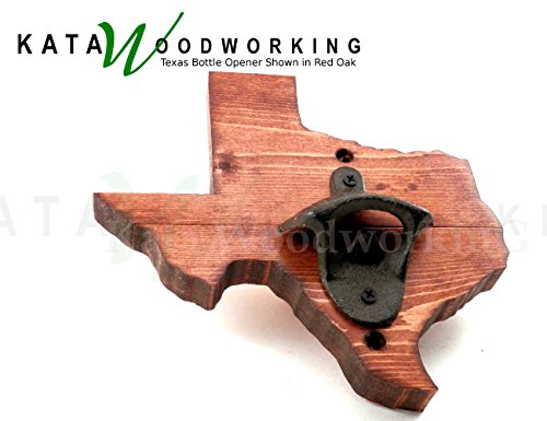 Cheap Texas Shaped Wood Cut-out Bottle Opener – Wall Mount – Handmade