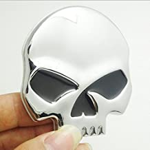EQLEF® 3D Metal Skull Car & Motorcycle Stickers skull emblem sticker car styling accessories decals