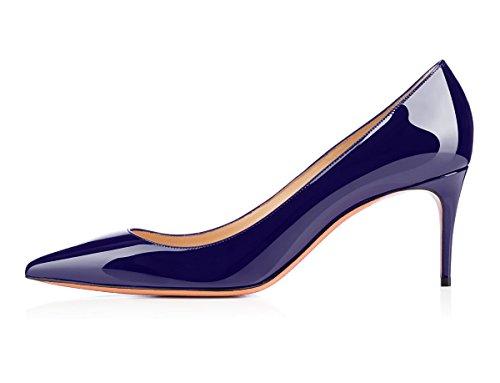 Talon Foncé 65mm Femme Talons Aiguille Grande Stilettos Femmes Bleu Escarpins Chaussures Taille Ubeauty Haut 4OwqvSIS