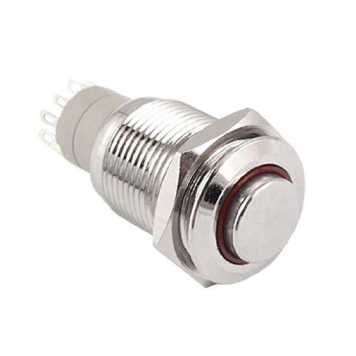 - eDealMax Angelo Red Eye 12V acciaio inossidabile Interruttore a scatto Pulsante 5 Pin