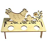 Bigmai Easter Egg Tray Holder, Cute Easter Egg Rack Tray Holder Slot Party Decorative Household Supplies Put Egg Storage Holders (Eggs not Including)