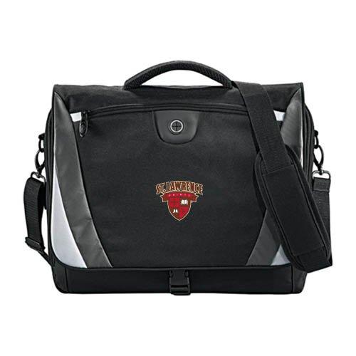 St. Lawrence Slope Black/Grey Compu Messenger Bag 'Official Logo' by CollegeFanGear