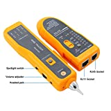 BOOGIIO Wire Tracker RJ11 RJ45 Line Finder Handheld Cable Tester Multifunction Cable Check Wire Measuring Instrument for Network Maintenance Collation, Telephone Line Test, Continuity Checking