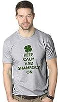 Keep Calm And Shamrock On T Shirt St Patricks Day Shirt M