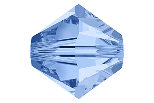 48 4mm Swarovski crystal bicone 5301 Medium Sapphire ()