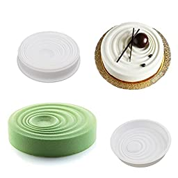 Round & Waves Design Silicone Mousse Cake Mould Cake Mold Silicone Flexible For Mousse Cake Breads Brownie Cornbread Cheesecake Dessert