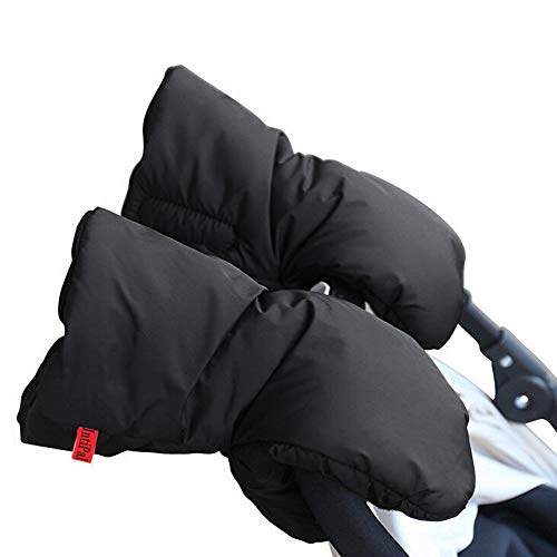 Warm Muff Stroller Gloves - Winter Waterproof Anti-Freeze Extra Thick Stroller Hand Muff - Black