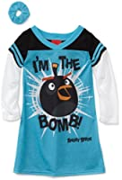 Angry Bird Little Girls'  I'm the Bomb Long Sleeve Nightgown