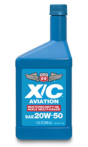 Phillips 66 1045457 X/C Aviation Oil 20W50-1 Quart, 32. Fluid_Ounces