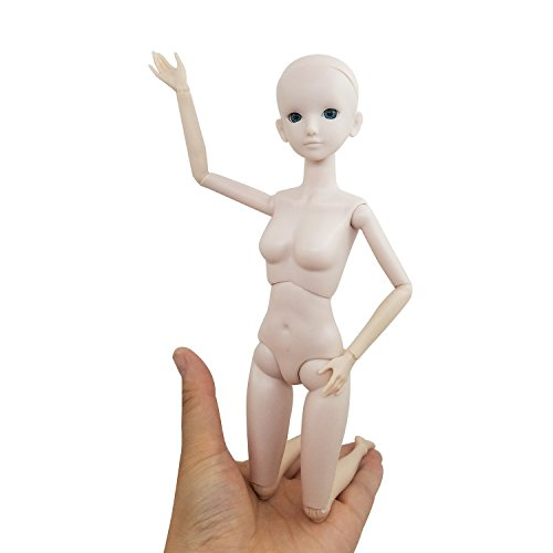 EVA Female BJD Doll Body 1/6 Nude Doll 11 inch BJD Dolls Girl 's Gift,Without makeup