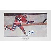 Autographed Guy Lafleur Lithograph - Montreal Canadiens photo