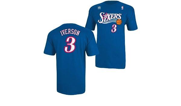 Philadelphia 76ers Adidas Allen Iverson Sixers Throwback Adidas T Shirt, Azul Royal: Amazon.es: Deportes y aire libre