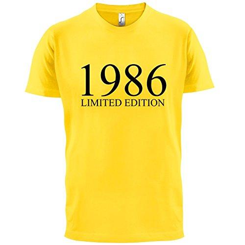1986 Limierte Auflage / Limited Edition - 31. Geburtstag - Herren T-Shirt - Gelb - M