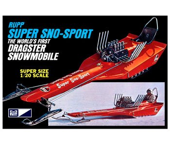 Rupp Super Sno-Sport World's 1st Dragster Snowmobile 1-20 MPC Boxart Ltd Production (Snowmobile Chassis)
