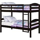 Amazon Com Twin Wood Loft Style Bunk Bed Walnut Color