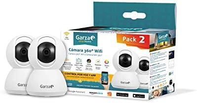 Garza Smarthome - Pack de 2 Cámaras WiFi Inteligentes 360 para ...