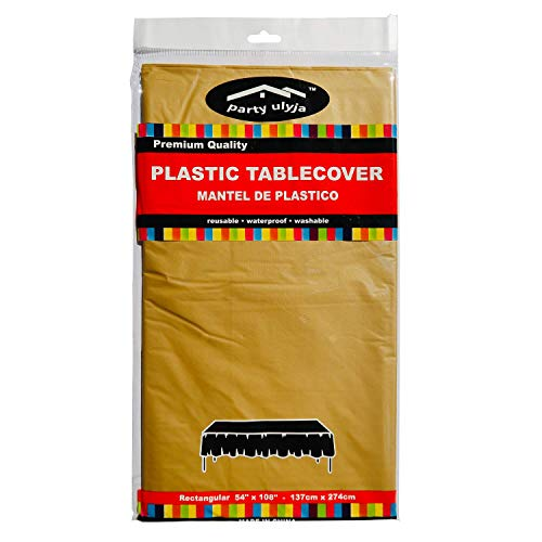 party ulyja Rectangle Plastic Tablecloth - Table Cover 54