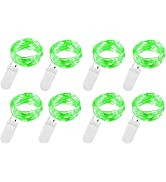 8 Pack Green 9.8ft 30 Led Fairy String Lights Battery Operated Fairy Lights Firefly Lights Starry...