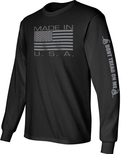 Gadsden and Culpeper Made in USA Longsleeve Shirt - Black - 2X