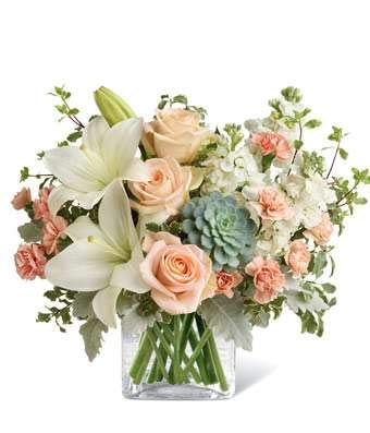 Glorious Peach Bouquet - Same Day Sympathy Flowers Delivery - Sympathy Flower - Sympathy Gifts - Send Online Sympathy Plants & Flowers