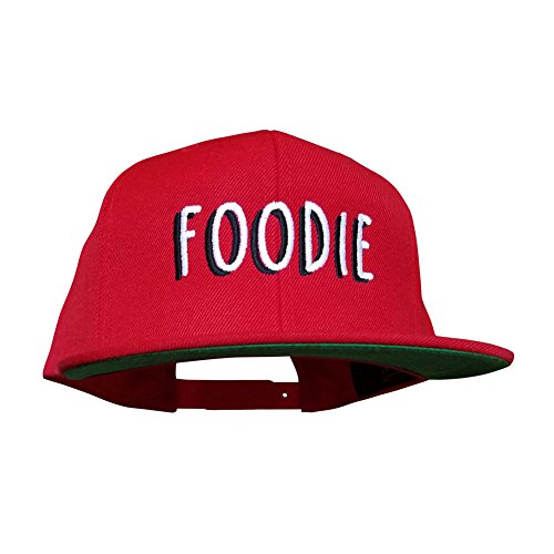 10oz Apparel Foodie Red snapback hat, perfect for Foodies, Cooks and chefs