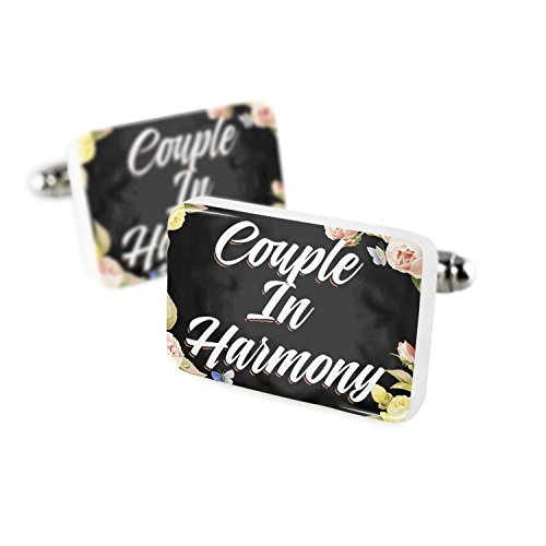 Cufflinks Floral Border Couple In Harmony Porcelain Ceramic NEONBLOND by NEONBLOND