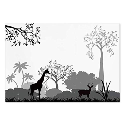 Funky Wall Mural Sticker [ Tree,Bullfinches on Trees in Winter City Park Snow Cold Weather Immigrant Birds Design,Grey White ] Self-Adhesive Vinyl Wallpaper/Removable Modern Decorating Wall Art -