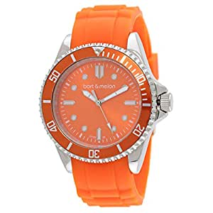 Bart & Melon Women's Analog Silicone Watch - 12NL010OrOr
