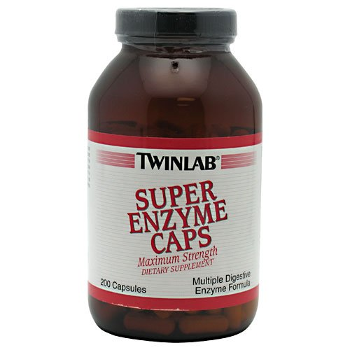 TWINLAB SUPER ENZYME MAX STRENGTH, 200 CAP (Twinlab Super Enzyme Caps)