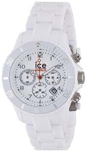 Ice-Watch CH.WE.U.P.10 - Reloj analógico de caballero de cuarzo con correa de plástico blanca - sumergible a 50 metros