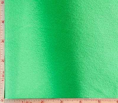 Green Pique 1 Side Fleece Fabric 2 Way Stretch Polyester 7 Oz 58-60