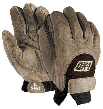 OK1 Full Finger Anti Vibration/Impact Gloves, Pair - Large