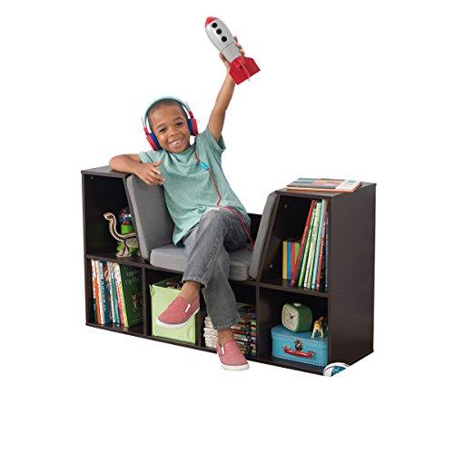 """415TTAvWwkL - KidKraft 14231 Bookcase with Reading Nook Toy, 46.46"""" x 15.16"""" x 5.04"""", Espresso"""
