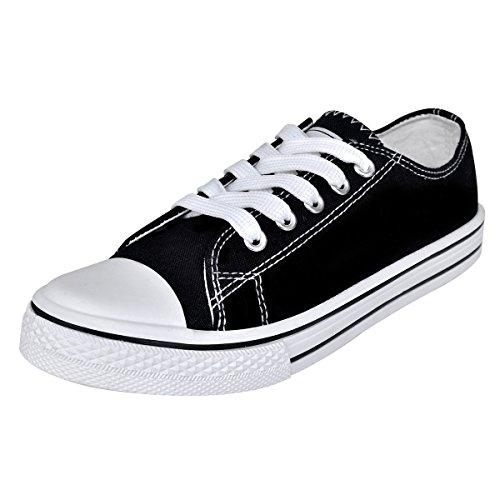 black classic low top lace up canvas sneaker u7zPIU