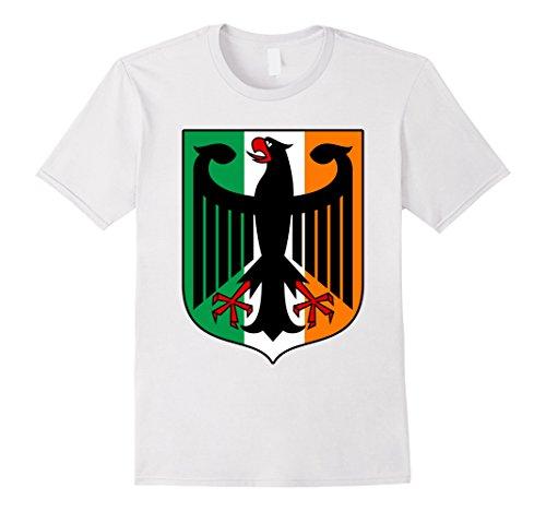 Irish Family Coat Of Arms (Men's German Irish Coat of Arms Family Heritage Shirt Large)