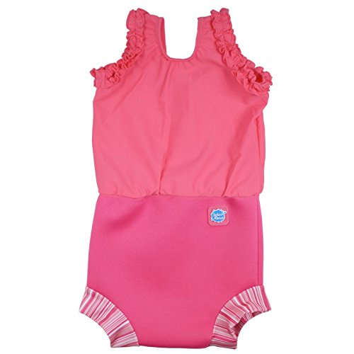 [Splash About Happy Nappy Costume (Neoprene Swim Nappy) (Pink Classic, Small (0-4 months))] (0-3 Month Swimming Costumes)