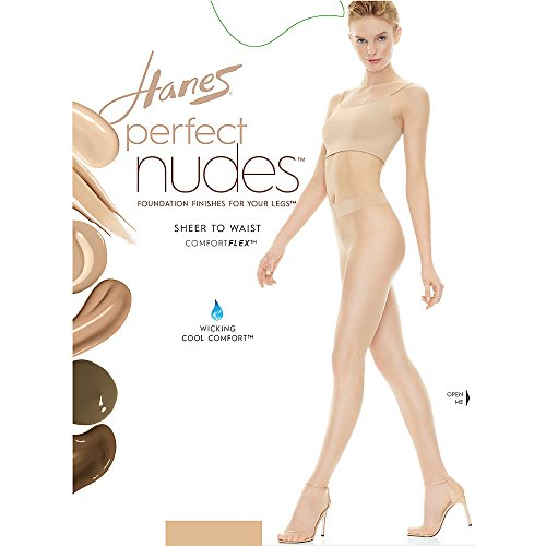 Hanes Perfect Nudes Sheer to Waist Run Resistant Light Tummy Control Hosiery - Hanes Perfect Womens Panties