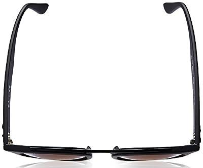 Ray-Ban Injected Unisex Sunglass, Matte Black / Mirror Gradient Grey, 46 mm