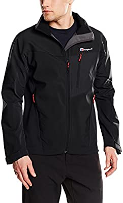 6e6caf67e Berghaus Ghlas Men's Outdoor Softshell Jacket available in Black/Black -  Small