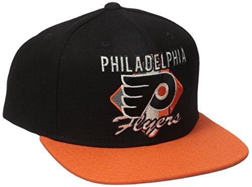Reebok Philadelphia Flyers Mesh (Reebok NHL Philadelphia Flyers Men's CCM Diamond Flat Brim Snapback Cap, One Size, Black)